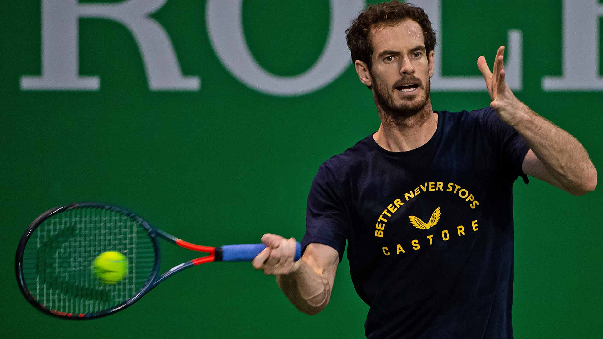 Andy Murray is playing at the Rolex Shanghai Masters for the first time since 2016.